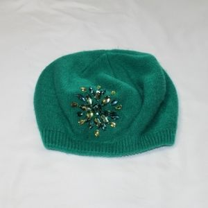 Vintage Unbranded Emerald Green Knit Hat